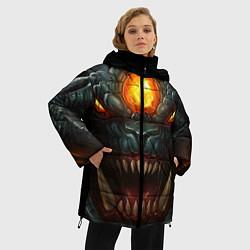 Женская зимняя 3D-куртка с капюшоном с принтом Roshan Rage, цвет: 3D-черный, артикул: 10064261006071 — фото 2