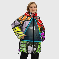 Куртка зимняя женская Pink Floyd цвета 3D-черный — фото 2