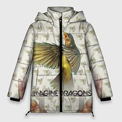 Женская зимняя 3D-куртка с капюшоном с принтом Imagine Dragons: Fly, цвет: 3D-черный, артикул: 10064383406071 — фото 1