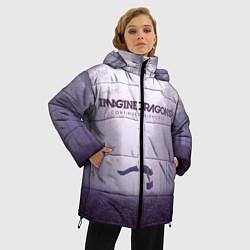 Женская зимняя 3D-куртка с капюшоном с принтом Imagine Dragons: Silence, цвет: 3D-черный, артикул: 10064383706071 — фото 2