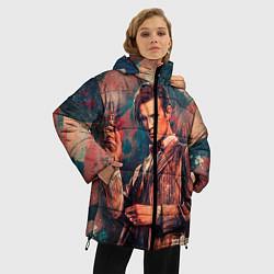 Женская зимняя 3D-куртка с капюшоном с принтом Доктор кто, цвет: 3D-черный, артикул: 10065374306071 — фото 2