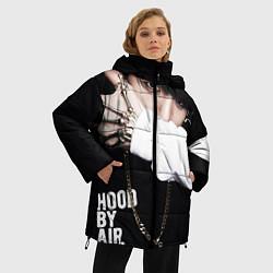 Куртка зимняя женская BTS: Hood by air цвета 3D-черный — фото 2