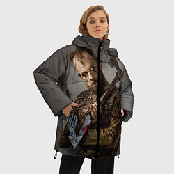 Женская зимняя 3D-куртка с капюшоном с принтом Флоки, цвет: 3D-черный, артикул: 10073057606071 — фото 2