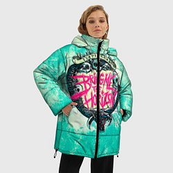 Женская зимняя 3D-куртка с капюшоном с принтом BMTH: Sempiternal, цвет: 3D-черный, артикул: 10073643506071 — фото 2