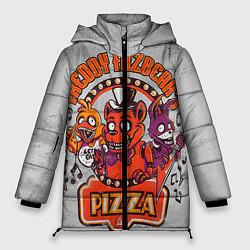 Женская зимняя 3D-куртка с капюшоном с принтом Freddy Pizza, цвет: 3D-черный, артикул: 10073826506071 — фото 1