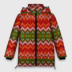 Куртка зимняя женская Зимний узор цвета 3D-черный — фото 1