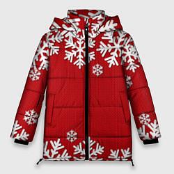 Куртка зимняя женская Снежинки - фото 1