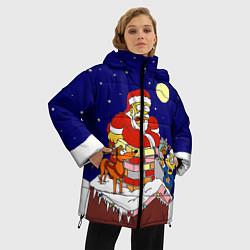 Куртка зимняя женская Новый год у Симпоснов - фото 2