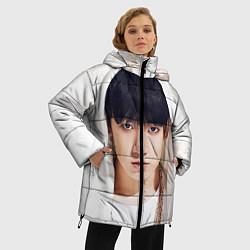 Куртка зимняя женская Jeon Jung Kook цвета 3D-черный — фото 2