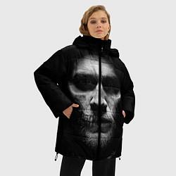 Женская зимняя 3D-куртка с капюшоном с принтом Sons Of Anarchy, цвет: 3D-черный, артикул: 10078856006071 — фото 2