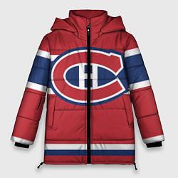 Женская зимняя 3D-куртка с капюшоном с принтом Montreal Canadiens, цвет: 3D-черный, артикул: 10079438006071 — фото 1