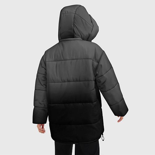 Женская зимняя куртка Группа Кино / 3D-Черный – фото 4
