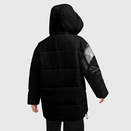 Женская зимняя куртка Виктор Цой / 3D-Черный – фото 4