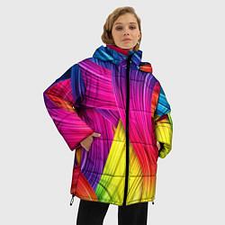 Куртка зимняя женская Абстракция цвета - фото 2