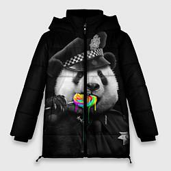 Куртка зимняя женская Панда с карамелью цвета 3D-черный — фото 1