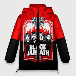 Женская зимняя 3D-куртка с капюшоном с принтом Black Sabbath: Red Sun, цвет: 3D-черный, артикул: 10087840106071 — фото 1