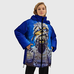 Женская зимняя 3D-куртка с капюшоном с принтом Iron Maiden: Mummy, цвет: 3D-черный, артикул: 10089881606071 — фото 2