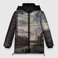 Женская зимняя 3D-куртка с капюшоном с принтом S.T.A.L.K.E.R: Dark Street, цвет: 3D-черный, артикул: 10091865806071 — фото 1