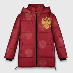 Женская зимняя 3D-куртка с капюшоном с принтом Сборная России по футболу, цвет: 3D-черный, артикул: 10093070906071 — фото 1