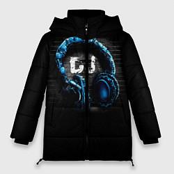 Женская зимняя 3D-куртка с капюшоном с принтом DJ, цвет: 3D-черный, артикул: 10095740606071 — фото 1