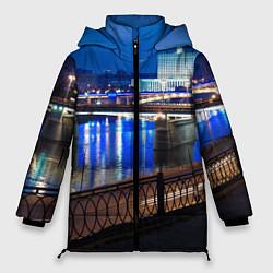 Женская зимняя 3D-куртка с капюшоном с принтом Москва, цвет: 3D-черный, артикул: 10095926006071 — фото 1
