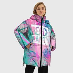Женская зимняя 3D-куртка с капюшоном с принтом Beach Party, цвет: 3D-черный, артикул: 10096482806071 — фото 2