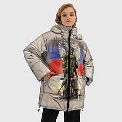 Куртка зимняя женская Солдат и дитя цвета 3D-черный — фото 2