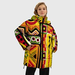 Куртка зимняя женская Африка цвета 3D-черный — фото 2
