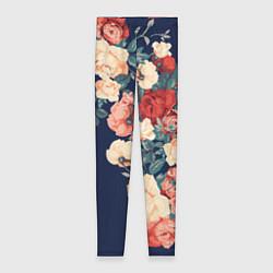 Женские леггинсы Fashion flowers