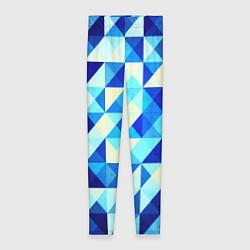 Женские леггинсы Синяя геометрия