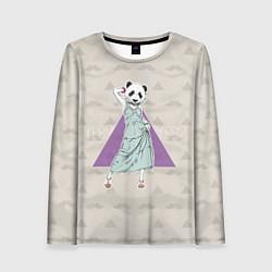 Лонгслив женский Panda Girl: yes yes? цвета 3D — фото 1