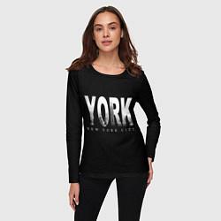 Лонгслив женский New York City цвета 3D — фото 2