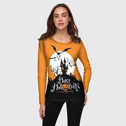 Лонгслив женский Happy Halloween цвета 3D-принт — фото 2