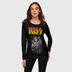 Лонгслив женский KISS: Gene Simmons цвета 3D — фото 2