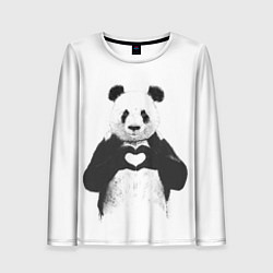 Женский лонгслив Panda Love