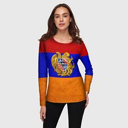 Лонгслив женский Армения цвета 3D — фото 2