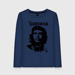 Лонгслив хлопковый женский Che Guevara цвета тёмно-синий — фото 1