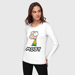 Лонгслив хлопковый женский Moby цвета белый — фото 2