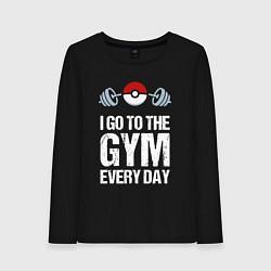 Лонгслив хлопковый женский Gym Everyday цвета черный — фото 1