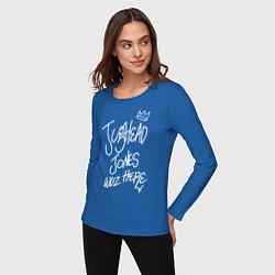 Лонгслив хлопковый женский Jughead цвета синий — фото 2