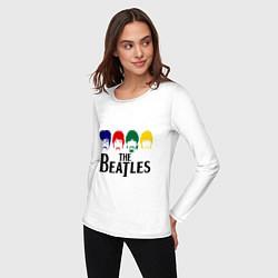 Лонгслив хлопковый женский The Beatles Heads цвета белый — фото 2