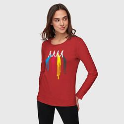 Лонгслив хлопковый женский Abbey Road Colors цвета красный — фото 2