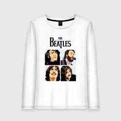 Лонгслив хлопковый женский The Beatles Stories цвета белый — фото 1