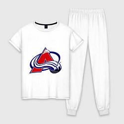 Пижама хлопковая женская Colorado Avelanche цвета белый — фото 1