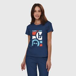 Пижама хлопковая женская Twenty One Pilots цвета тёмно-синий — фото 2