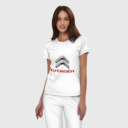 Пижама хлопковая женская Citroen цвета белый — фото 2