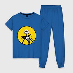Пижама хлопковая женская Nightmare before christmas цвета синий — фото 1