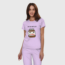 Пижама хлопковая женская Нутелла цвета лаванда — фото 2