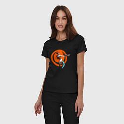 Пижама хлопковая женская Quake champions цвета черный — фото 2
