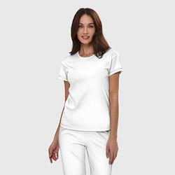 Пижама хлопковая женская Korn Skeleton цвета белый — фото 2